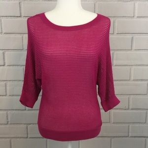 Apt.9 Sparkly Crochet Open Knit Sweater Top